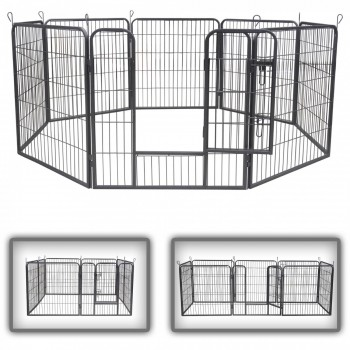ZOOMUNDO Large Pet Play Pen / Puppy Area - 8 Pieces – Bild 1