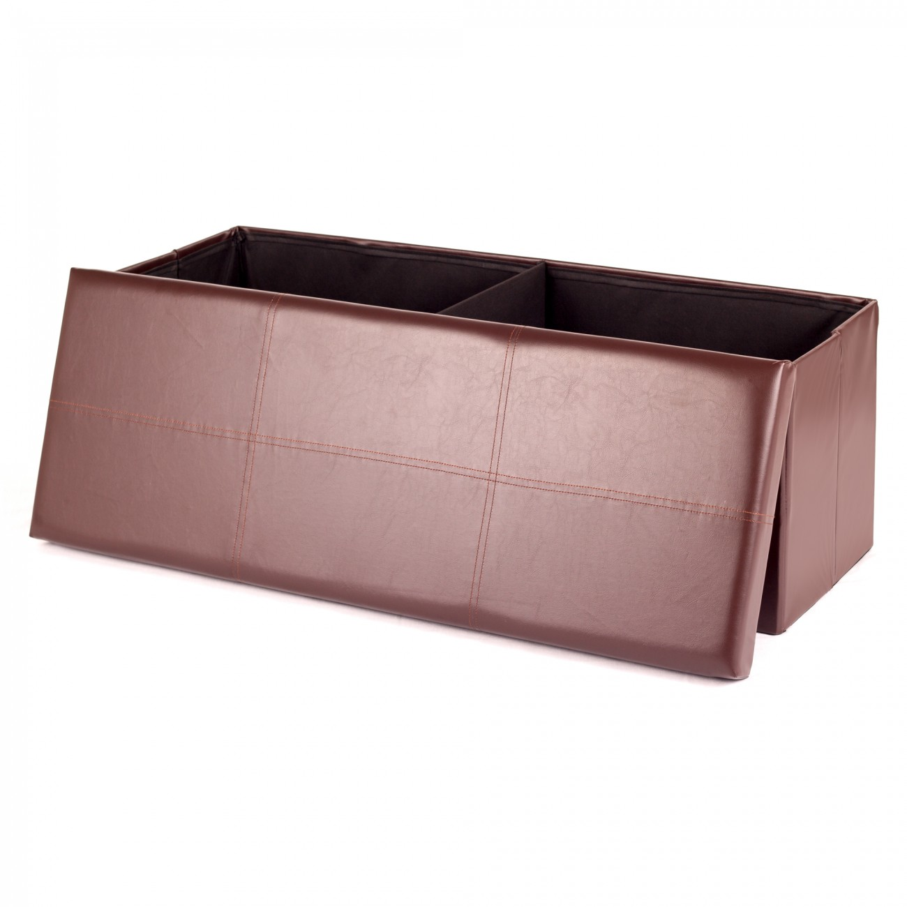 Turbo MY SIT Foldable Ottoman Storage Box Synthetic Leather 110 x 40 x  MA69