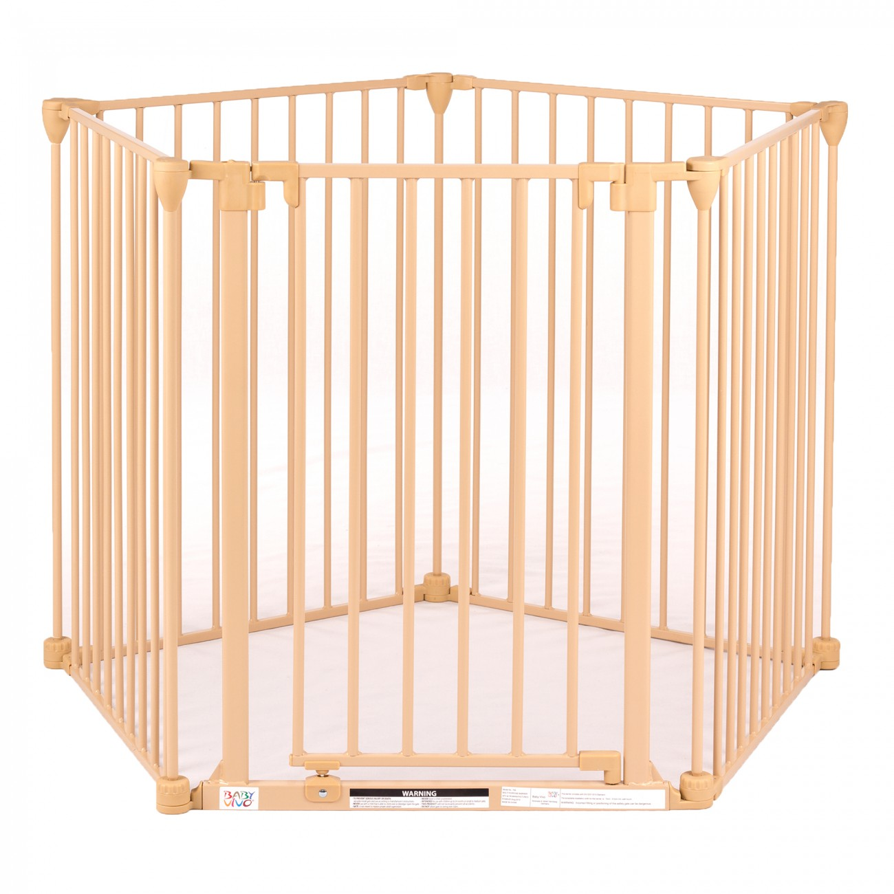 Baby vivo barri re parc en m tal grille pour chemin e 4 1 securit enfant en cr me 4 barreaux - Barriere de securite cheminee ...