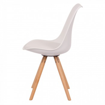 Makika Design Retro Dining Chair Set of 4 - MOOL in White – Bild 5
