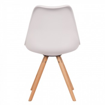 Makika Design Retro Dining Chair Set of 4 - MOOL in White – Bild 6