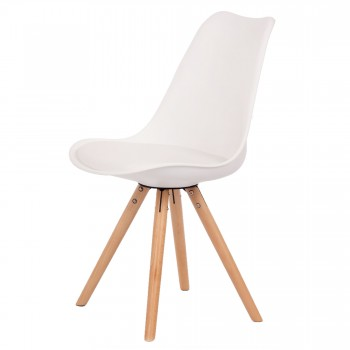 Makika Design Retro Dining Chair Set of 4 - MOOL in White – Bild 4