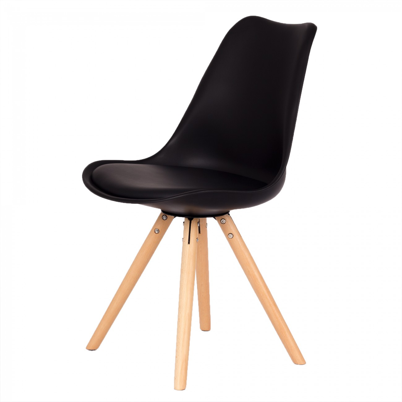 My sit design retro dining chair set of 4 mool in black for Design stuhl leisure