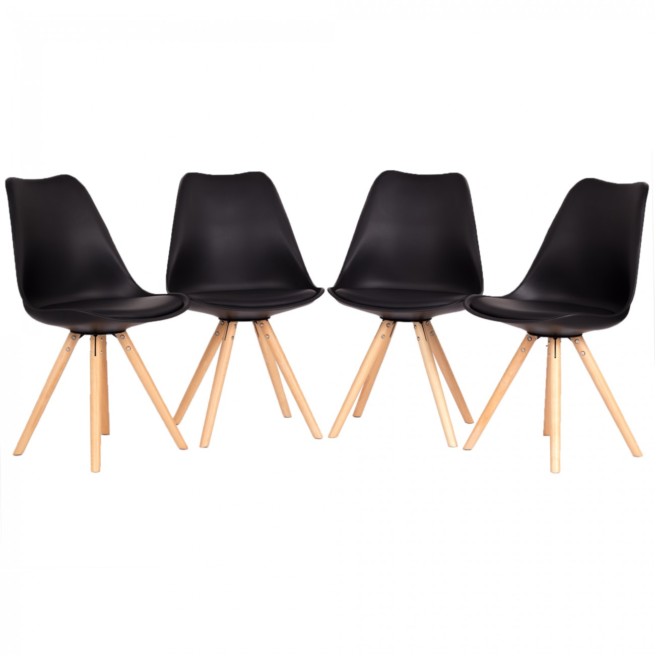 My sit retro stuhl design stuhl mool 4er set in schwarz for Design stuhl hersteller