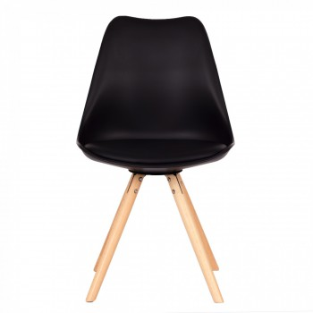 MY SIT Design Retro Dining Chair Set of 4 - MOOL in Black – Bild 3