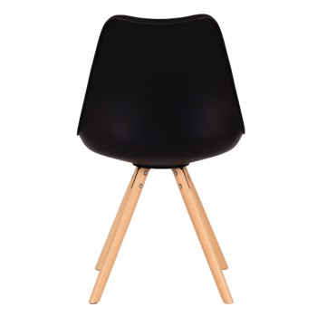 MY SIT Design Retro Dining Chair Set of 4 - MOOL in Black – Bild 6