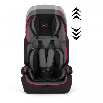 BABY VIVO Car Seat for Children TOM from 9-36 kg - Group 1+2+3 in grey/black – Bild 3