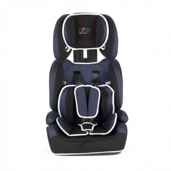 BABY VIVO Car Seat for Children TOM from 9-36 kg - Group 1+2+3 in blue/black – Bild 3