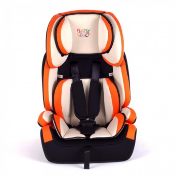 BABY VIVO Car Seat for Children TOM from 9-36 kg - Group 1+2+3 in orange/cream – Bild 2