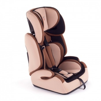 BABY VIVO Car Seat for Children TOM from 9-36 kg - Group 1+2+3 in brown/beige – Bild 1