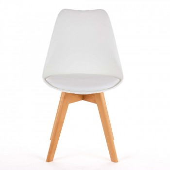 MY SIT Design Retro Dining Chair Set of 4 - ZURA in White – Bild 3