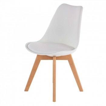 MY SIT Design Retro Dining Chair Set of 4 - ZURA in White – Bild 4