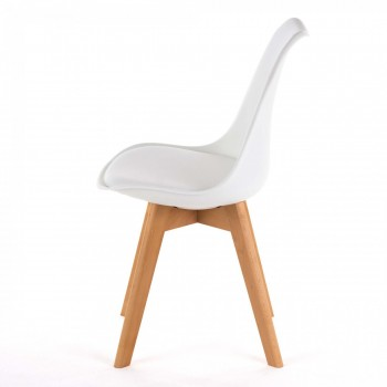 MY SIT Design Retro Dining Chair Set of 4 - ZURA in White – Bild 5