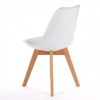 MY SIT Design Retro Dining Chair Set of 4 - ZURA in White – Bild 6