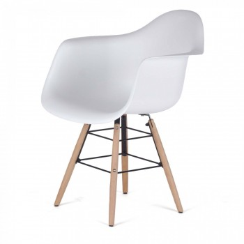 MY SIT Design Retro Dining Chair Set of 4 - NAALA in White – Bild 3