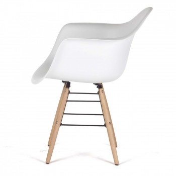 MY SIT Design Retro Dining Chair Set of 4 - NAALA in White – Bild 4