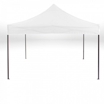 Strattore Foldable Gazebo with Canopy / Garden Tent - 3,0 x 3,0 x 3,20 m in White – Bild 1
