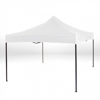 Strattore Foldable Gazebo with Canopy / Garden Tent - 3,0 x 3,0 x 3,20 m in White – Bild 2