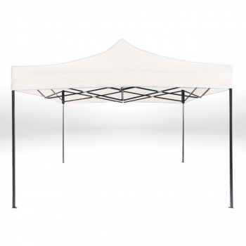 Strattore Foldable Gazebo with Canopy / Garden Tent - 3,0 x 3,0 x 3,20 m in White – Bild 3