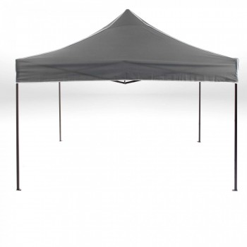 Strattore Foldable Gazebo with Canopy / Garden Tent - 3,0 x 3,0 x 3,20 m in Dark Grey – Bild 1