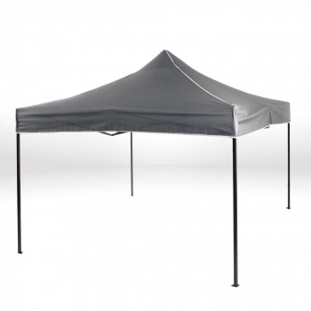 Strattore Foldable Gazebo with Canopy / Garden Tent - 3,0 x 3,0 x 3,20 m in Dark Grey – Bild 2