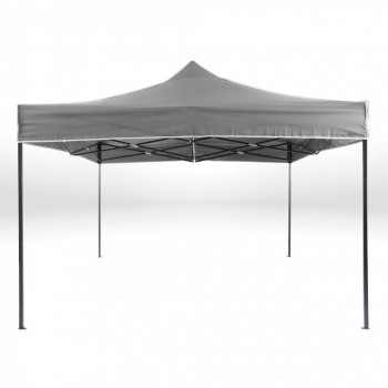 Strattore Foldable Gazebo with Canopy / Garden Tent - 3,0 x 3,0 x 3,20 m in Dark Grey – Bild 3
