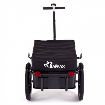 SAMAX Bicycle Bike Trailer for Transport 60 Kg / 70 Litre in Black – Bild 4