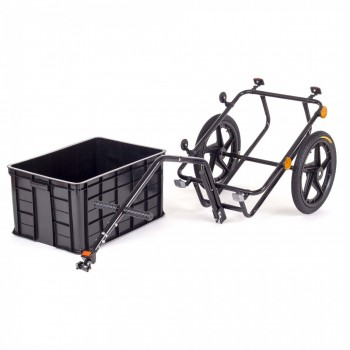 SAMAX Bicycle Bike Trailer for Transport 60 Kg / 70 Litre in Black – Bild 6