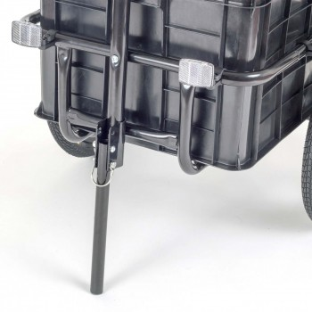 SAMAX Bicycle Bike Trailer for Transport 60 Kg / 70 Litre in Black – Bild 7