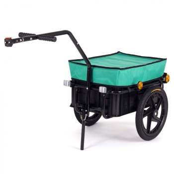 SAMAX Bicycle Bike Trailer for Transport 60 Kg / 70 Litre in Green – Bild 1