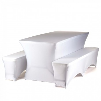 Strattore Set 2x Bench Cover 1x Table Cover white – Bild 1
