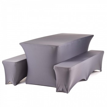 Strattore Set 2x Bench Cover 1x Table Cover anthracite – Bild 1