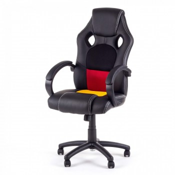 MY SIT Racing Chair Bürostuhl aus Kunstleder - Germany Fan Edition