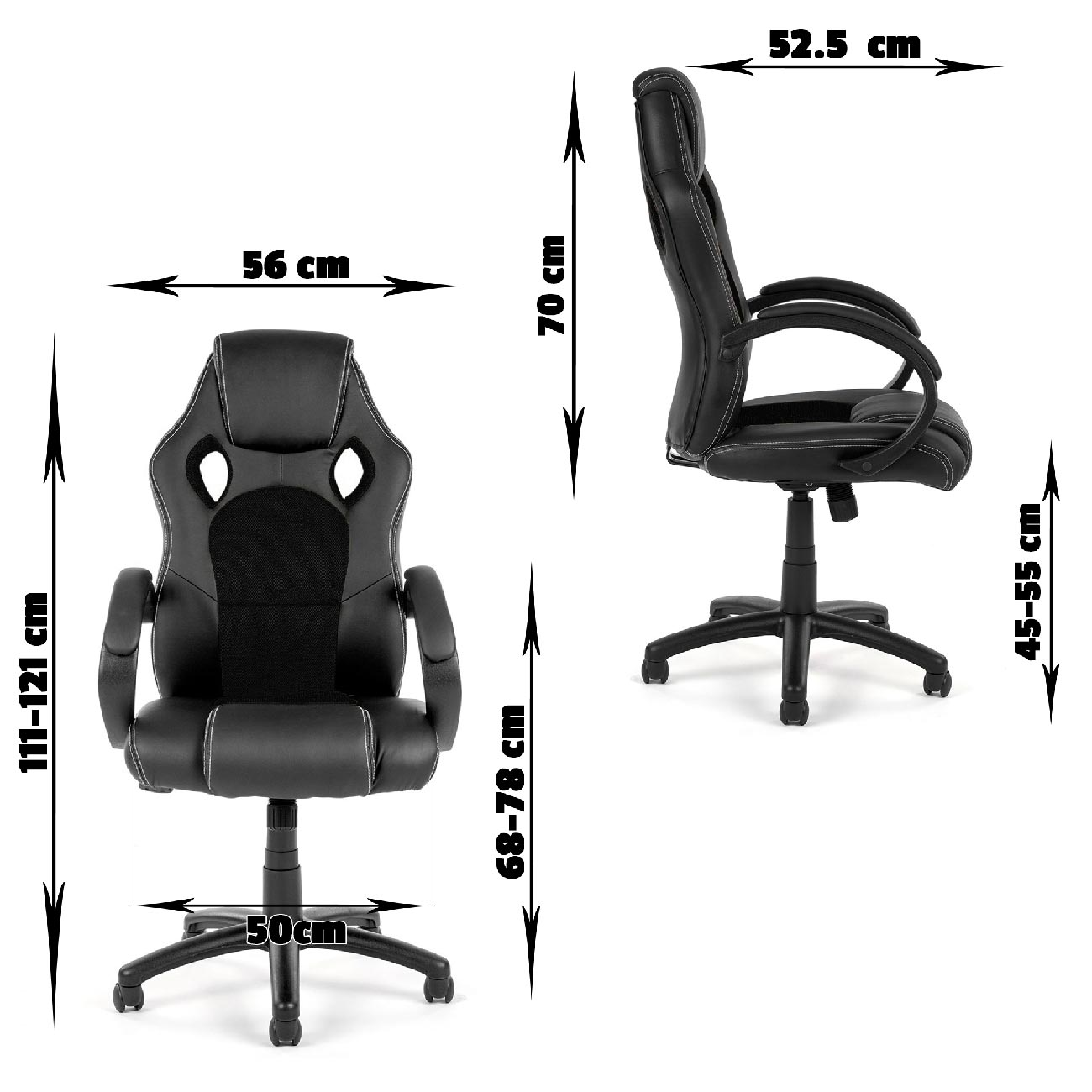 chaise bureau fauteuil si ge racing gamer sportiv ordinateur accoudoir noir v8 d ebay. Black Bedroom Furniture Sets. Home Design Ideas