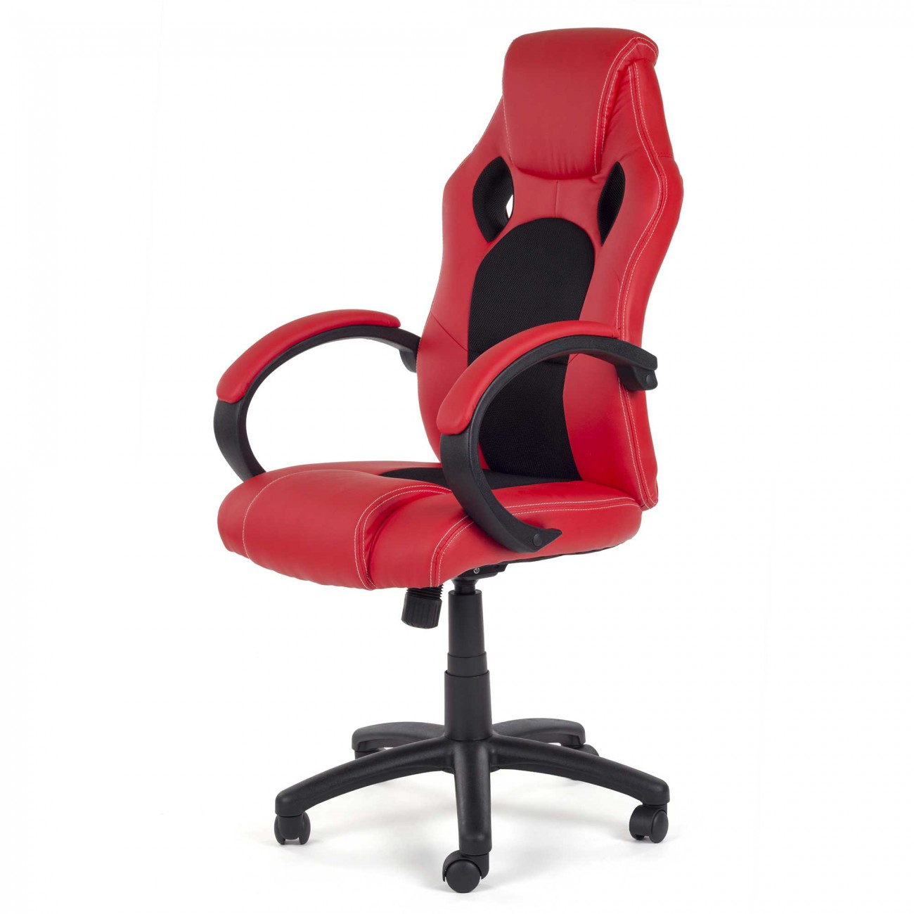 My sit office chair racing pu red black v8 office racing for Design stuhl leisure