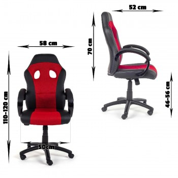 MY SIT Office Chair Racing V12 Red Synthetic Leather – Bild 7