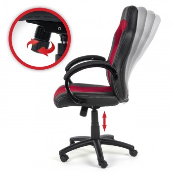 MY SIT Office Chair Racing V12 Red Synthetic Leather – Bild 8