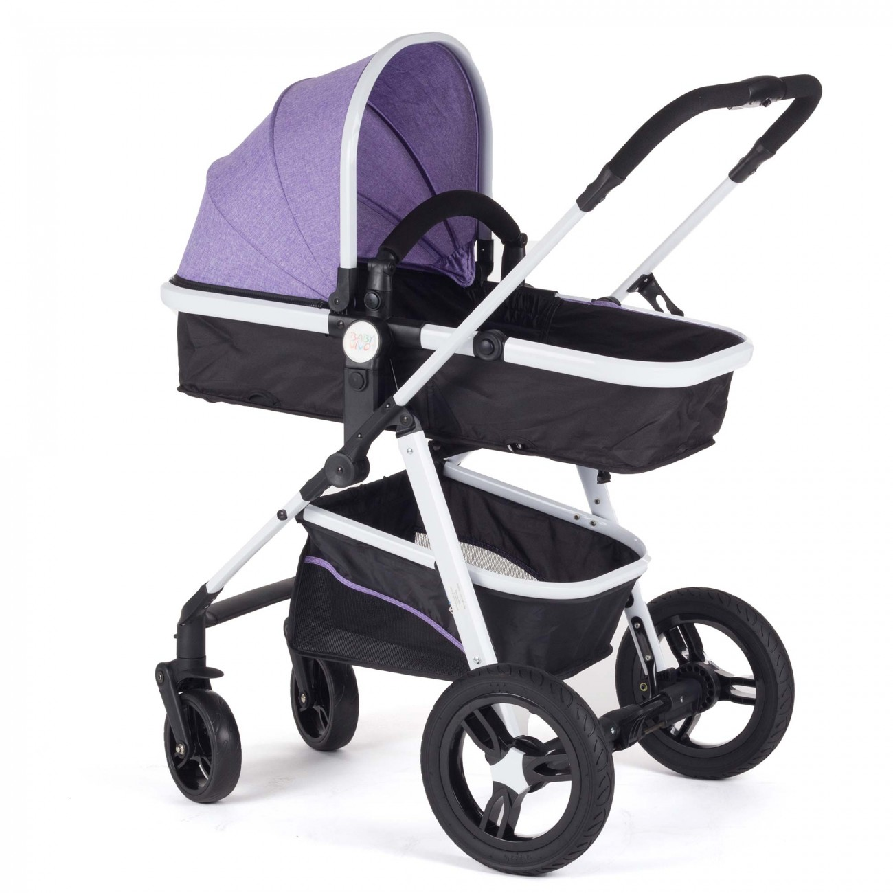 baby vivo stroller and buggy 2in1 combination purple. Black Bedroom Furniture Sets. Home Design Ideas