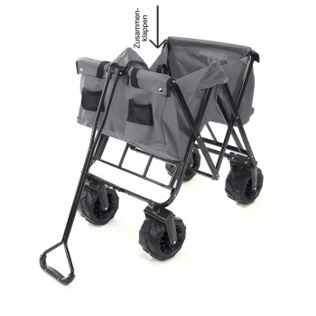 SAMAX Foldable Hand Cart Offroad Cool - Grey – Bild 8