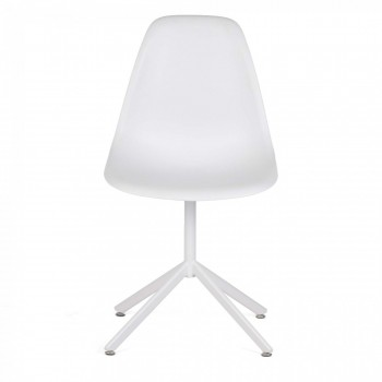 MY SIT Design Retro Dining Chair Set of 4 - BEEZ GO in White – Bild 2
