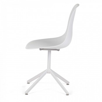 MY SIT Design Retro Dining Chair Set of 4 - BEEZ GO in White – Bild 4