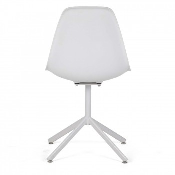 MY SIT Design Retro Dining Chair Set of 4 - BEEZ GO in White – Bild 5