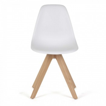 MY SIT Design Retro Dining Chair Set of 4 - BEEZ UP in White – Bild 5
