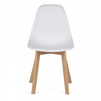 MY SIT Design Retro Dining Chair Set of 4 - BEEZ ME in White – Bild 2