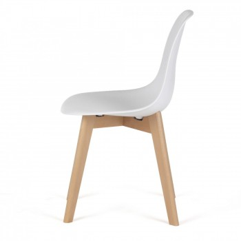 MY SIT Design Retro Dining Chair Set of 4 - BEEZ ME in White – Bild 4
