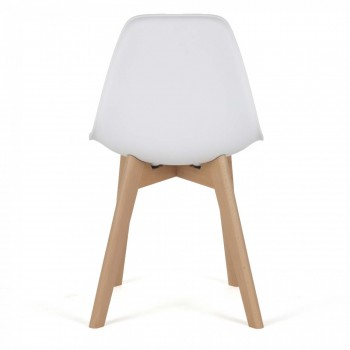 MY SIT Design Retro Dining Chair Set of 4 - BEEZ ME in White – Bild 5