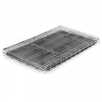 ZOOMUNDO Foldable stainless Animal Cage - Size XXL in Silver – Bild 4