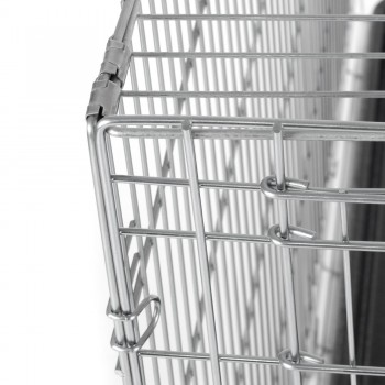 ZOOMUNDO Foldable stainless Animal Cage - Size XXL in Silver – Bild 9