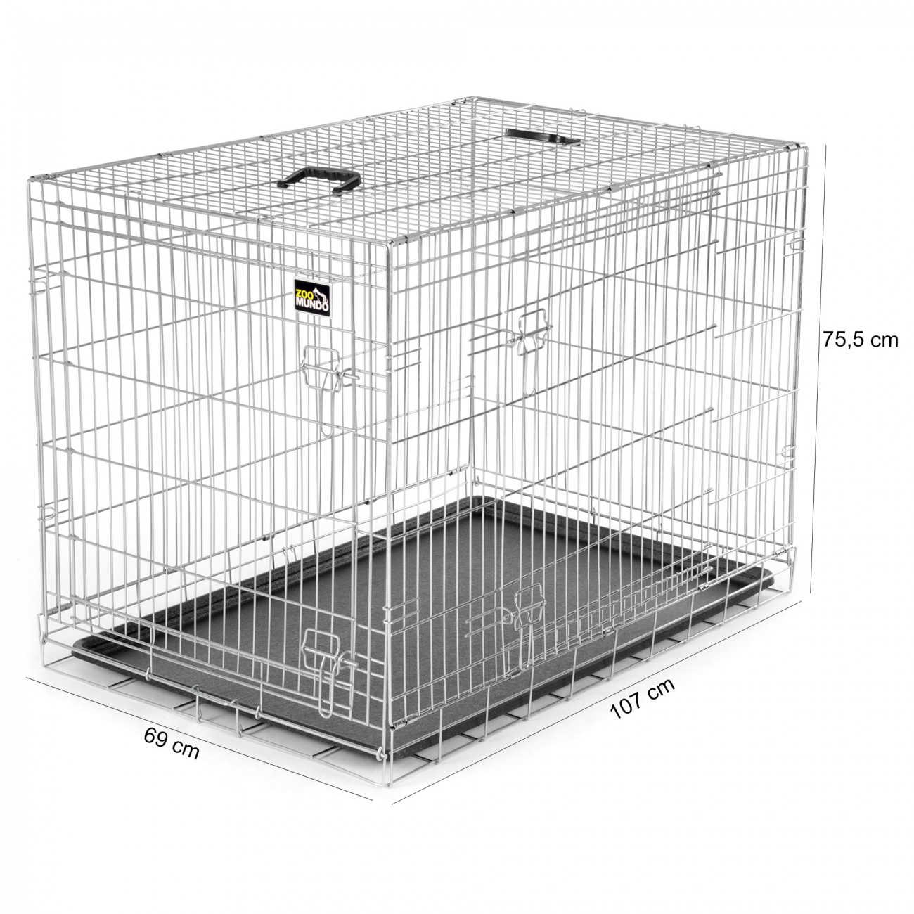 cage pour chiens caisse box de transport cage de animaux chiots pliable m tal ebay. Black Bedroom Furniture Sets. Home Design Ideas