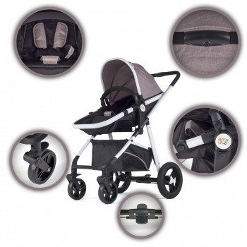 BABY VIVO Kinderwagen 2in1 Kombination – Bild 6
